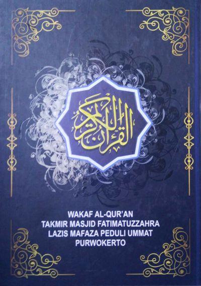 Cover Wakaf Al-Qur'an Masjid Fatimatuzzahra